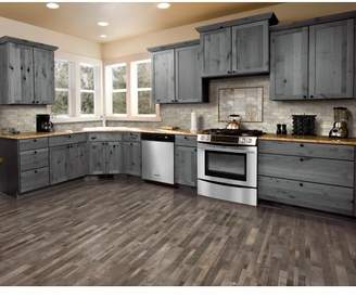 "Mohawk 7.5"" x 47.25"" x 0.3mm Pine Laminate Flooring in Weathered Gray"
