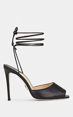 Paul Andrew Women's Look At Me Leather Ankle Strap Sandals - Black