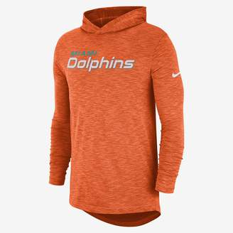 Nike Dri-FIT On-Field (NFL Dolphins) Men's Hooded Long Sleeve Top