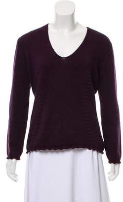 Malo Rib Knit Scoop Neck Sweater