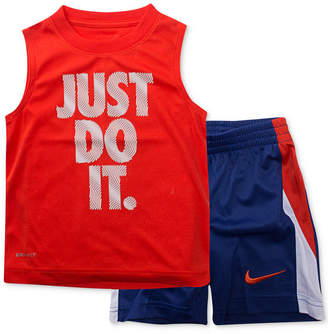 Nike Little Boys 2-Pc. Just Do It-Print Muscle Tank & Shorts Set