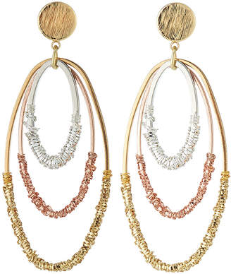 Nakamol Two-Tone Triple-Hoop Earrings