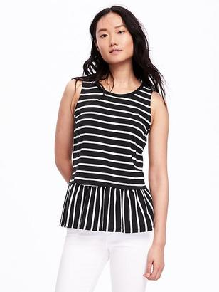 Relaxed Peplum-Hem Tank for Women $16.94 thestylecure.com
