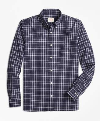 Brooks Brothers Windowpane Broadcloth Sport Shirt