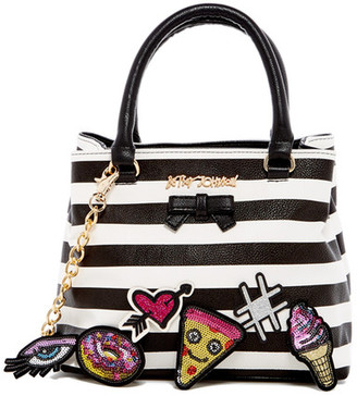 Betsey Johnson Faux Leather Sticky Situation Satchel $108 thestylecure.com