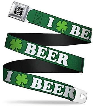 BUCKLE-DOWN INC. Unisex-Adults Buckle-Down Seatbelt Belt Beer Quote Regular
