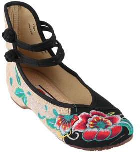 Boyban Chinese Style Womens Shoe Casual Soft Sole Shoes Comfortable Embroidered Shoes