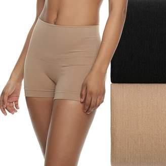 Lunaire Women's 2-Pack Seamless Shaping High Waist Boy Shorts 3412KP