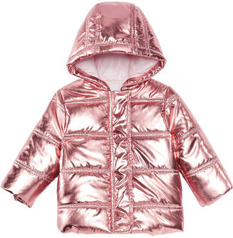 First Impressions Baby Girls Metallic Puffer Jacket