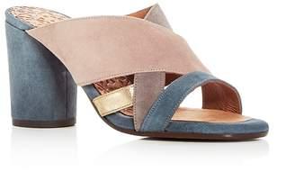 Chie Mihara Women's Uni Suede Round Block Heel Slide Sandals - 100% Exclusive