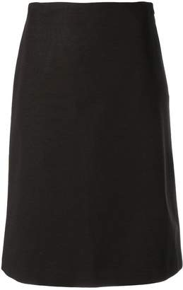 Theory midi straight skirt