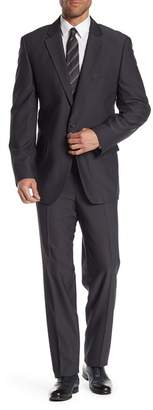 Nautica Tick Weave Two Button Notch Lapel Suit