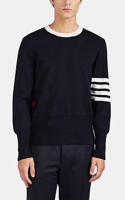 Thom Browne Men's Colorblocked Compact-Knit Wool Crewneck Sweater
