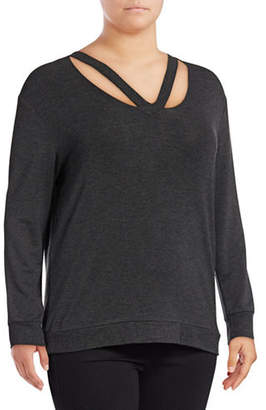 Andrew Marc Plus Cut-Out Neck Top