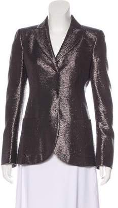 Akris Metallic Silk & Wool Blazer