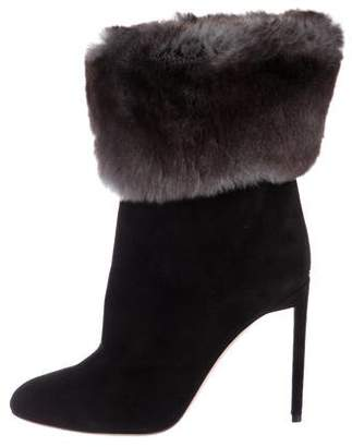 Christian Dior Fur-Trimmed Ankle Boots