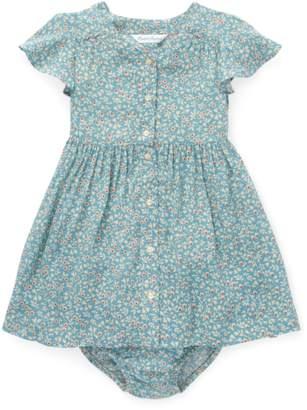 Ralph Lauren Kids Floral Shirred Dress