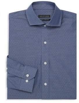 Saks Fifth Avenue Textured Trim-Fit Dress Shirt