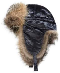 Brunello Cucinelli Velvet Fox Fur Trapper Hat