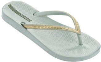 Ipanema Metallic Linked Chain Flip Flops