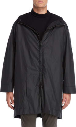 Transit Uomo Black Hooded Parka