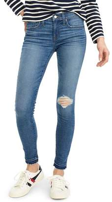 J.Crew J. Crew Toothpick Drop Hem Skinny Jeans (Petite)