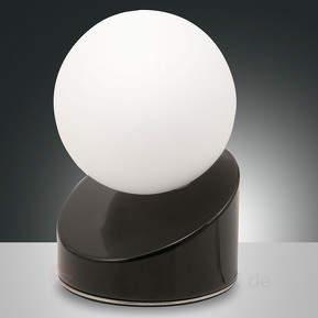 Kugelförmige LED-Tischleuchte Gravity, schwarz