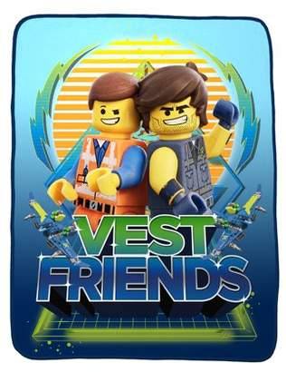 Lego The Movie The Movie 2 Kids Plush Throw, 46 x 60, Vest Friends, 1 Each
