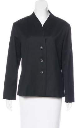 Issey Miyake Fete Wool Button-Up Jacket
