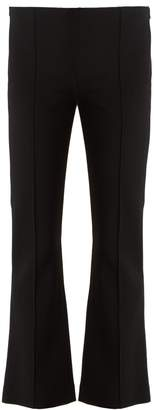 The Row Beca stretch-cady kick-flare trousers