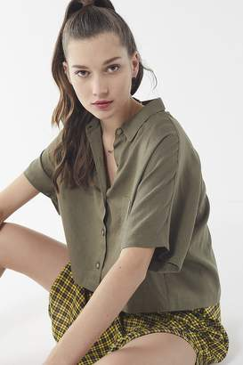 Urban Renewal Vintage Remnants Linen Button-Down Shirt
