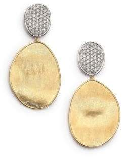 Marco Bicego Lunaria Diamond& 18K Yellow Gold Large Drop Earrings