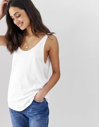 Asos Design DESIGN organic cotton super oversized tank in washed white