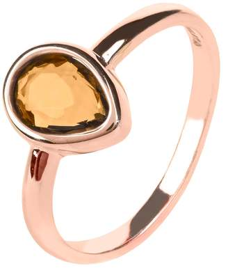 Rosegold LATELITA - Pisa Mini Teardrop Ring Smokey Quartz Hydro