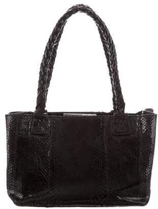 Carlos Falchi Fatto a Mano by Leather-Trimmed Python Bag