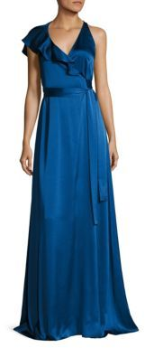 Diane von Furstenberg Sleeveless Ruffled Wrap Gown $548 thestylecure.com