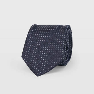 Club Monaco Navy Micro Dot Tie