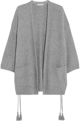 Madewell - Tasseled Crochet-knit Cotton-blend Cardigan - Gray $100 thestylecure.com