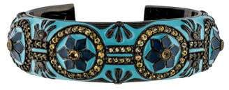 MCL by Matthew Campbell Laurenza Sapphire and Blue Enamel Cuff