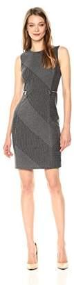 Calvin Klein Women's Mix Stripe Steath Dress with Zips