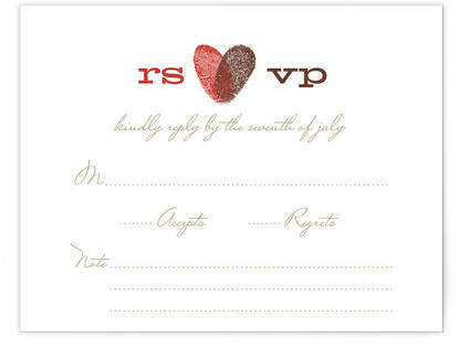 HEART PRINT Print-It-Yourself Wedding RSVP Cards