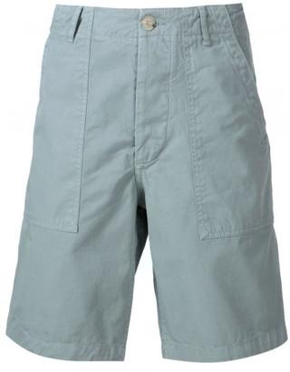 Maison Kitsuné canvas worker shorts $215 thestylecure.com
