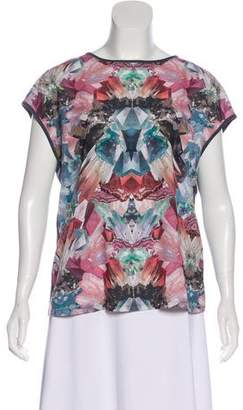 Ted Baker Crystal Print Sleeveless Top