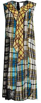 Marc Jacobs Women's Plaid Pleated Front Panel Dress