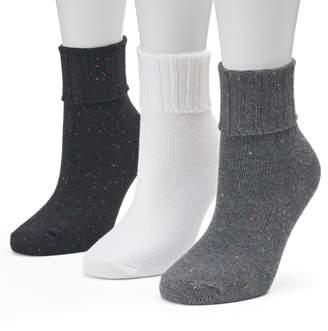 Sonoma Goods For Life Women's SONOMA Goods for Life 3-pk. Turn Cuff Crew Socks