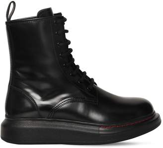 Alexander McQueen 40mm Hybrid Leather Combat Boots