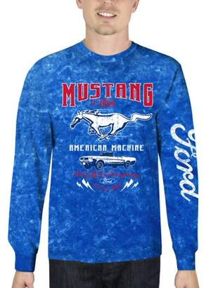 Automotive Ford Mustang Men's Long Sleeve Mineral Wash Graphic Tee