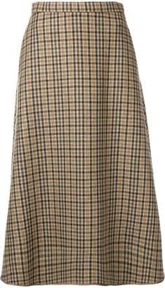 Rochas tartan A-line skirt