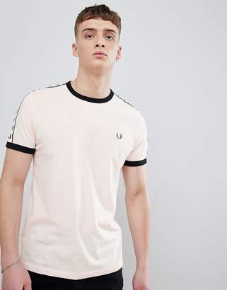 Fred Perry Sports Authentic Taped T-Shirt in Pink