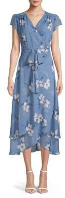 ABS by Allen Schwartz Collection Floral Chiffon Midi Dress